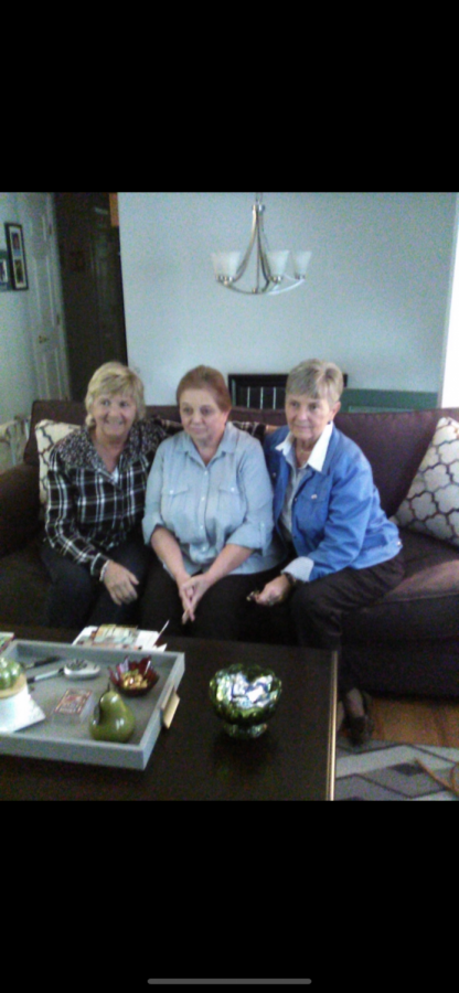 From left to right, Aunt Jean, Aunt Sheila, my Grandma