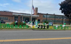 Carle Place High School decorated to send off our seniors