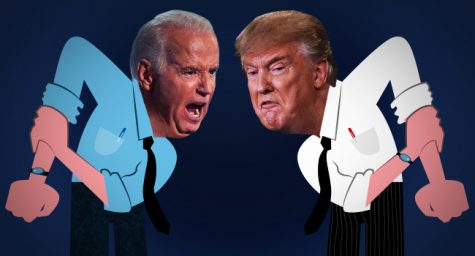 Picture showing the two 2020 presidential debate