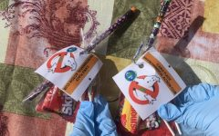 Photo taken by Grace Kang: EAC goodie bags give out at Track-or-Treat